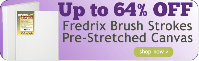 Up to 62% Off Fredrix Brush Strokes Stretched Canvas